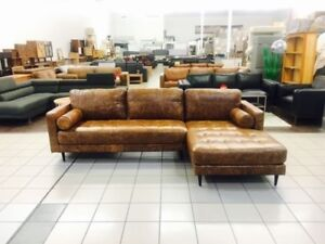 MEMPHIS 3 SEATER PLUS CHAISE RUSTICA BUFF LEATHER Nerang Gold Coast West Preview