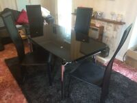 Black Chrome Dining Table