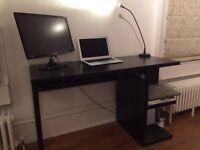 Desk IKEA MICKE with LED desk lamp