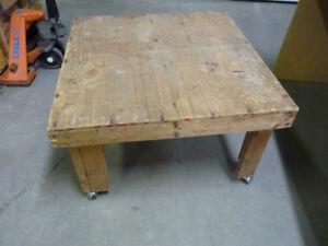 "Used Rolling 36"" Working Table on Wheels $23"