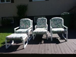 Floral pcs patio furniture for sale