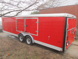 "24' Wells Cargo Autowagon Enclosed Trailer...""Lowboy"""