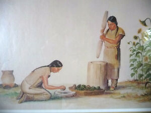 "Iroquois Artist Lithograph, Ernest Smith ""Making SunFlower Oil"" Stratford Kitchener Area image 7"