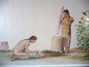 "Iroquois Artist Lithograph, Ernest Smith ""Making SunFlower Oil"" Stratford Kitchener Area image 7"