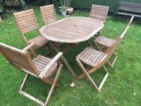Hardwood garden furniture set