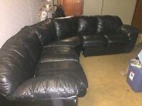 Beautiful leather sectional $400 obo