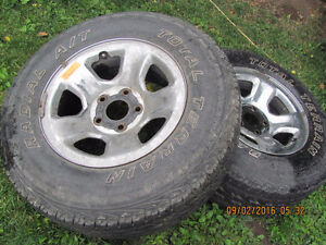 Two Dodge Rims with 265 R 17 Tires, $25 each Prince George British Columbia image 2