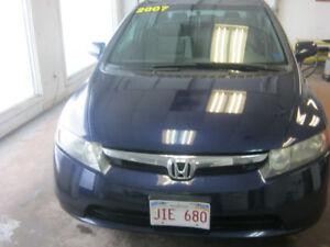 2007 Honda Civic grey cloth Sedan