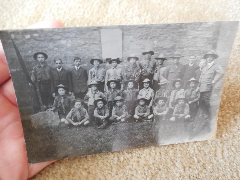 Early 1900s 10s 20s Boy Scouts Group Scoutmasters Troop RPPC  Photo Postcard #49