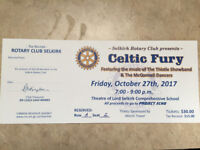 Celtic Fury Concert by Selkirk Rotary Club