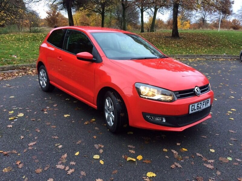 2012 Volkswagen Polo 1.2 Match Red 12months MOT - Fantastic Condition m