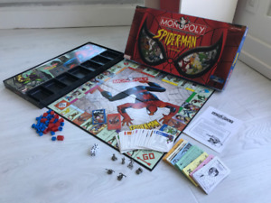 Monopoly Spider-man Spiderman Game 2002 Collector's Edition