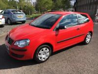 5708 Volkswagen Polo 1.2 ( 60PS ) E Red 3 Door 63017mls MOT 12m