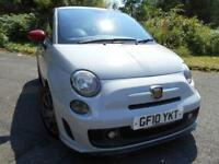 2010 10 ABARTH 500 1.4 ABARTH 3D 135 BHP ** RED LEATHER , ONLY 44K , SUPERB CAR