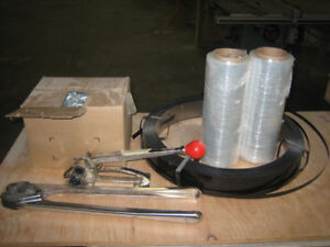 "1/2"" Steel Strapping Tensioner and Cutter Set with materials - $"