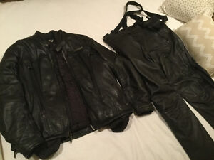 FXRG Leather Jacket (XL) and pants (size 38)