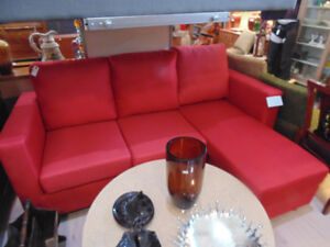 contempery red small sectional