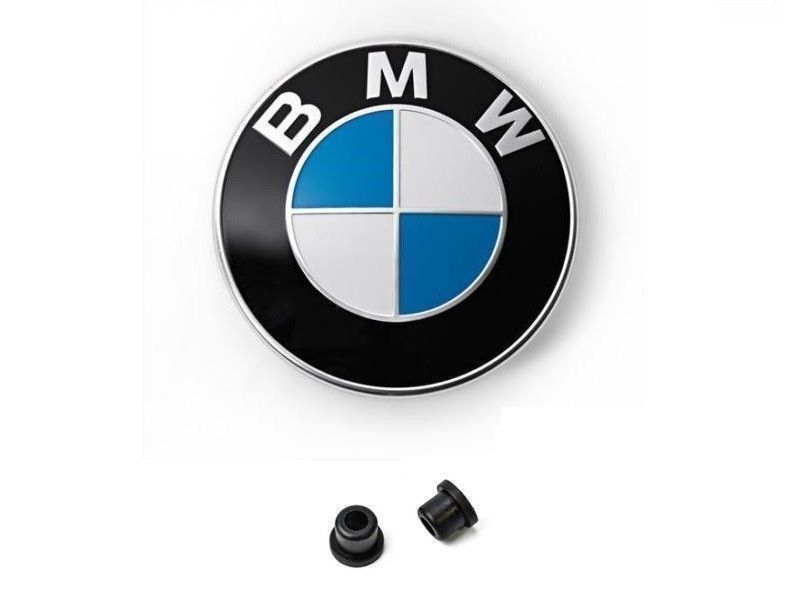 original bmw emblem motorhaube 82mm mit t llen e32. Black Bedroom Furniture Sets. Home Design Ideas