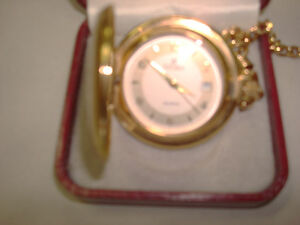 Reduced price  new Fiori Pocket Watch with chain Swiss Movement