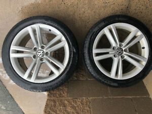"18"" Pirelli All Weather Tires on VW Passat Alloy Rims"