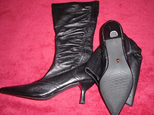 Brand new black leather boots , made in Germany. London Ontario image 3