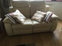 Vision white leather sofa.