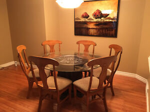 Dining Table complete with 6 chairs
