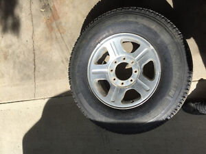 Multiple wheels and tires 4x4 truck SUV