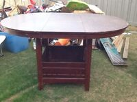 Wooden kitchen/dining room table