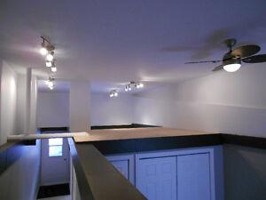 3½ style loft à louer à 2 pas du centre-ville réçemment rénové