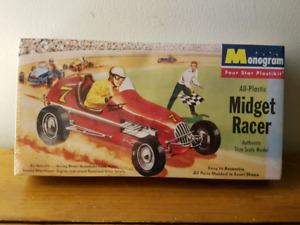 Monogram Midget Racer Plastic Model Kit