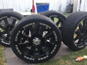 24 inch rims with tires