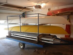 2 Laser Sailboats and Trailer