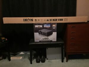 "IKON LED 4K 3D Smart Projector With 85"" Auto Self Locking Screen"
