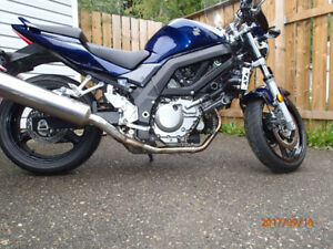 2008 SV 650 with ABS +extras and lowered suspension $4500