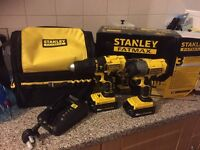 18v Stanley fatmax impact combi set Makita dewalt