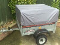 Erde galvanised tipping trailer + extension kit (doubles height)