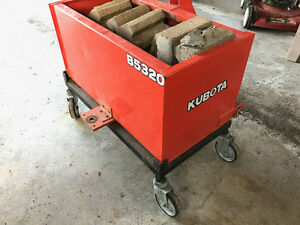 Kubota ballast box B5320 with custom removable shop trolley