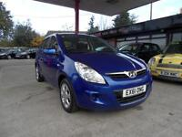 11 (61) HYUNDAI i20 1.2 COMFORT 5DR ONLY £30 ROAD TAX, 44,700 MILES WITH FULL