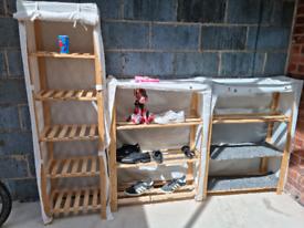 Wooden storage 3 items