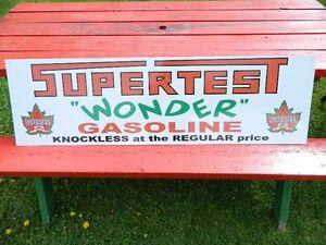 Supertest Wonder Gasoline sign