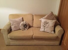 SofaBed / sofa bed Double, 2-3 seater, Beige