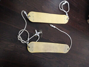 set of two outdoor swings for swing set
