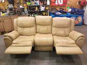 Elran Genuine Leather Reclining Couch  St. John's Newfoundland image 2