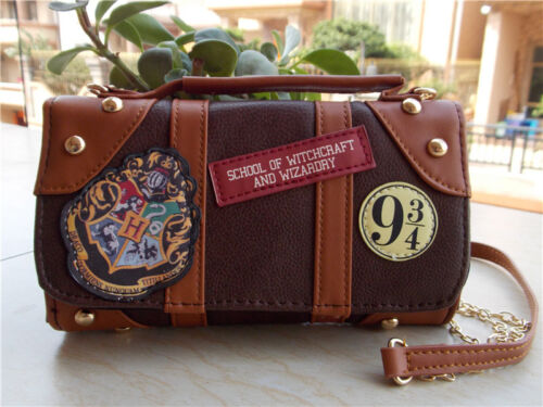 New Harry Potter Hogwarts PU School Badge Wallet Bag Package Christmas Gift