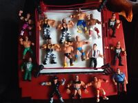 16 Wrestling figures and ring