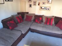 4 seater corner sofa with foot stool