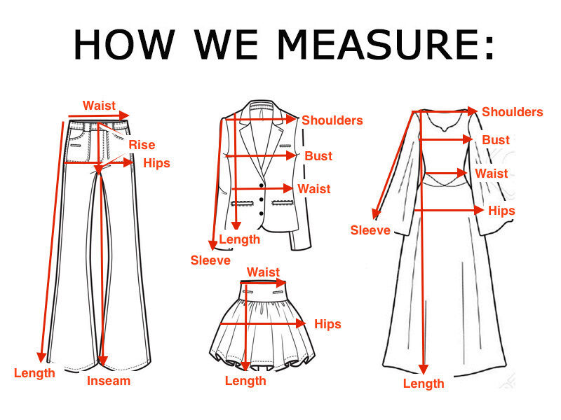 Measurement Diagram For Men S Clothing