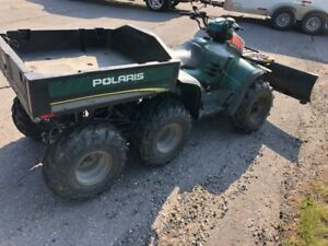 Polaris 6x6 with blade/ snow plow open to offers