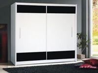 New Design High Gloss Panel Sliding Wardrobe - Quack Delivery 14-DAY MONEY BACK GUARANTEE